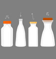 on theme big set different types chilled milk vector image
