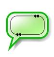 Paper Green Speech Bubble vector image vector image