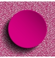 Pink circle Sequin background Eps 10 vector image vector image