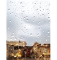 Raindrops Trough Window vector image vector image