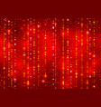 red abstract decorative shining background vector image