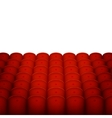 Red Cinema or Theater Seats with White Blank vector image