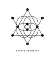 sacred geometry sign tattoo isolated on white vector image vector image