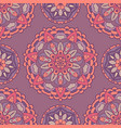 seamless floral medallion pattern vector image vector image
