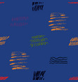 seamless pattern hand drawn with a brush strokes vector image