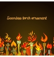 Seamless torch ornament vector image vector image