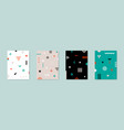 set of 4 placard with geometric bauhaus shapes vector image