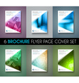 Set of 6 Brochure template Flyer Design and vector image vector image
