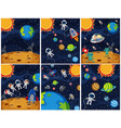 set of space background vector image