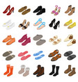 shoes sign 3d icon set isometric view vector image