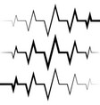 sine wave icon heart rate pulse icon medicine logo vector image