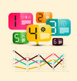 six step infographic design with icons on vector image vector image