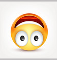 smileyemoticon yellow face with emotions facial vector image vector image