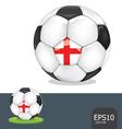 soccer ball england vector image vector image