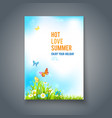 summer positive card vector image vector image