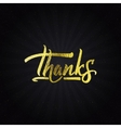 Thank you - typographic calligraphic lettering vector image vector image