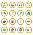 toys cartoon icon circle vector image