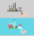 water concept clea waste vector image