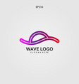 wave logo design minimalist and elegant concept vector image vector image