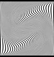 wavy lines texture vector image vector image