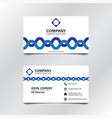white blue wave business card 002 vector image vector image