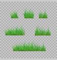 set green grass borders vector image