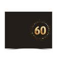 60 years anniversary card vector image