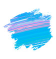 abstract acrylic brush strokes isolated on white vector image vector image