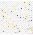 abstract modern pattern with gold stars shiny vector image vector image