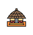 african local traditional house flat color vector image vector image