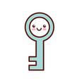 antique key kawaii character vector image vector image