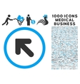 Arrow Up Left Icon with 1000 Medical Business vector image vector image