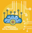 artificial intelligence concept cartoons vector image vector image
