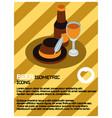 beer color isometric poster vector image vector image
