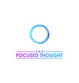blue circle water logo design vector image