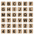 board game alphabet letters and numbers vector image vector image