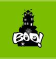 boo typography design vector image