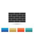 bricks icon isolated on white background vector image