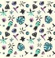 bright summer fashion seamless pattern vector image
