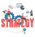 business and marketing strategy concept vector image vector image