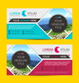 business flyer design horizontal template with vector image