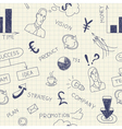 Business ink doodles on paper vector image