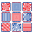 button stylized colors usa flag vector image