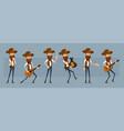 cartoon cowboy or sheriff character big set vector image
