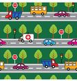 Cartoon seamless pattern with cars