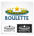 Casino Roulette Symbol vector image vector image
