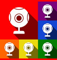 chat web camera sign set of icons with vector image vector image