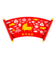 chinese new year 2021 with scroll and chinese vector image vector image