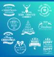 christmas badges set1 vector image vector image