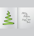 christmas tree made from green lace vector image vector image